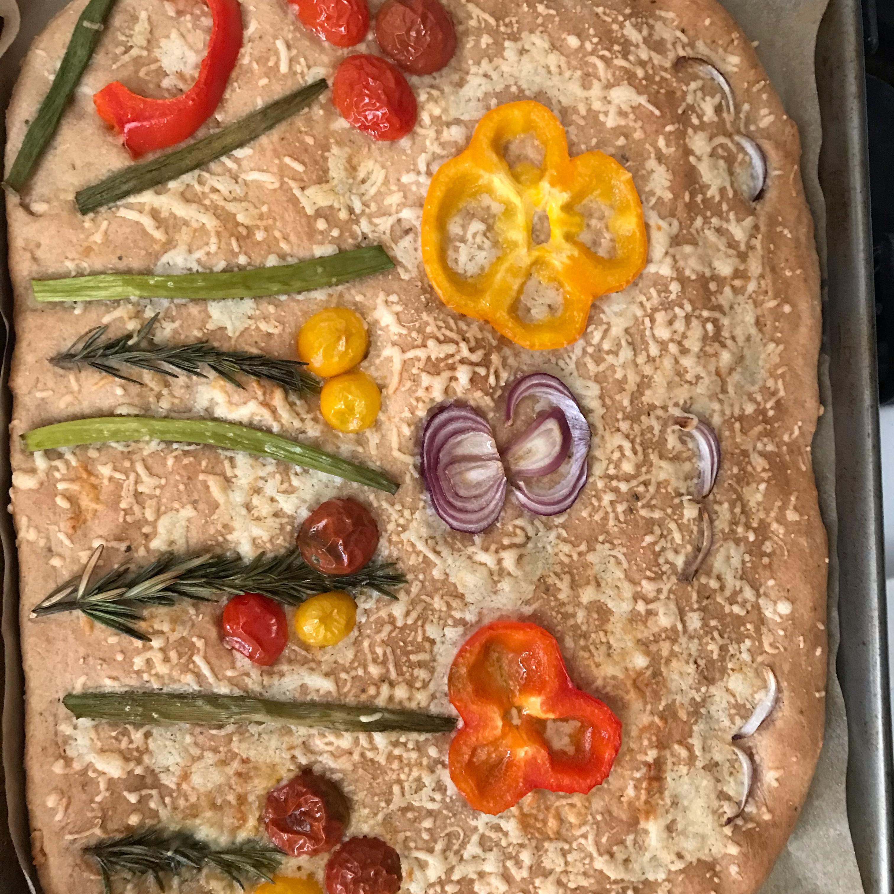 Decorated Focaccia Bread
