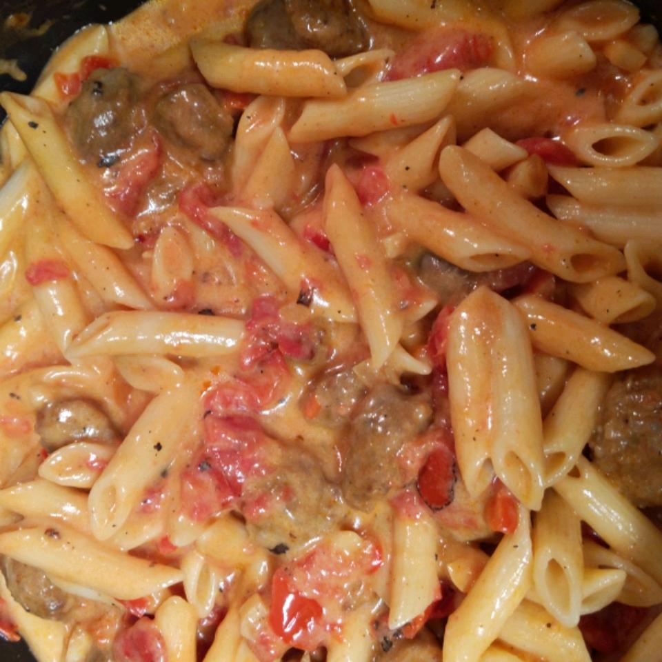 Rigatoni Pasta with Chorizo