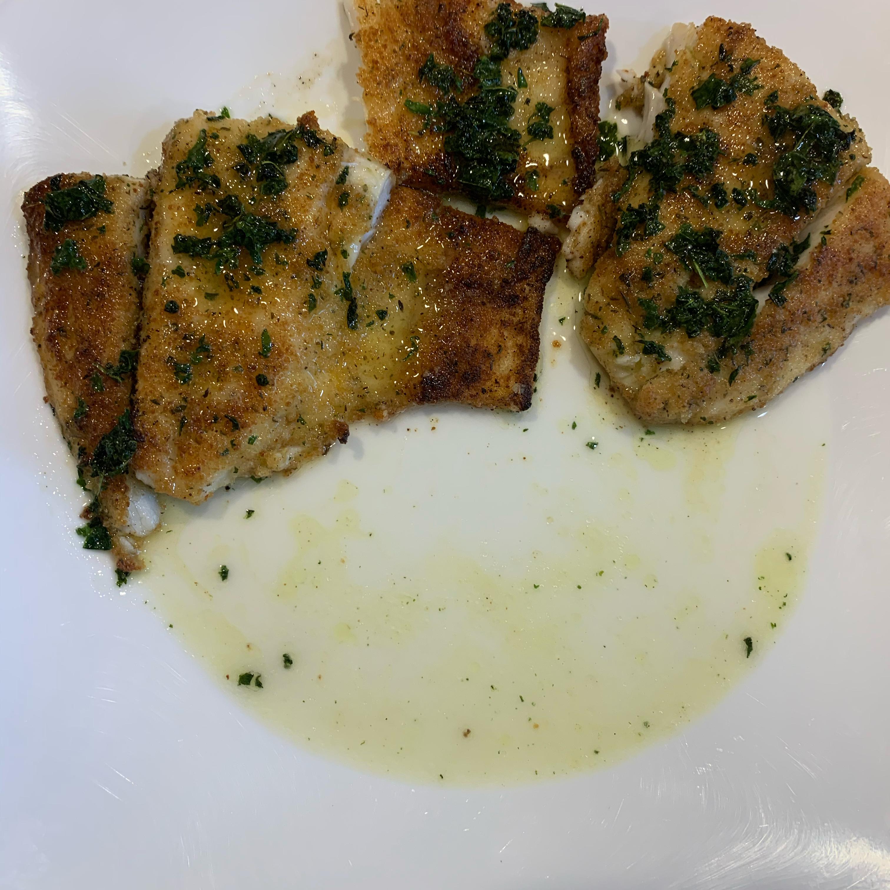 Barramundi With Lemon Basil Sauce