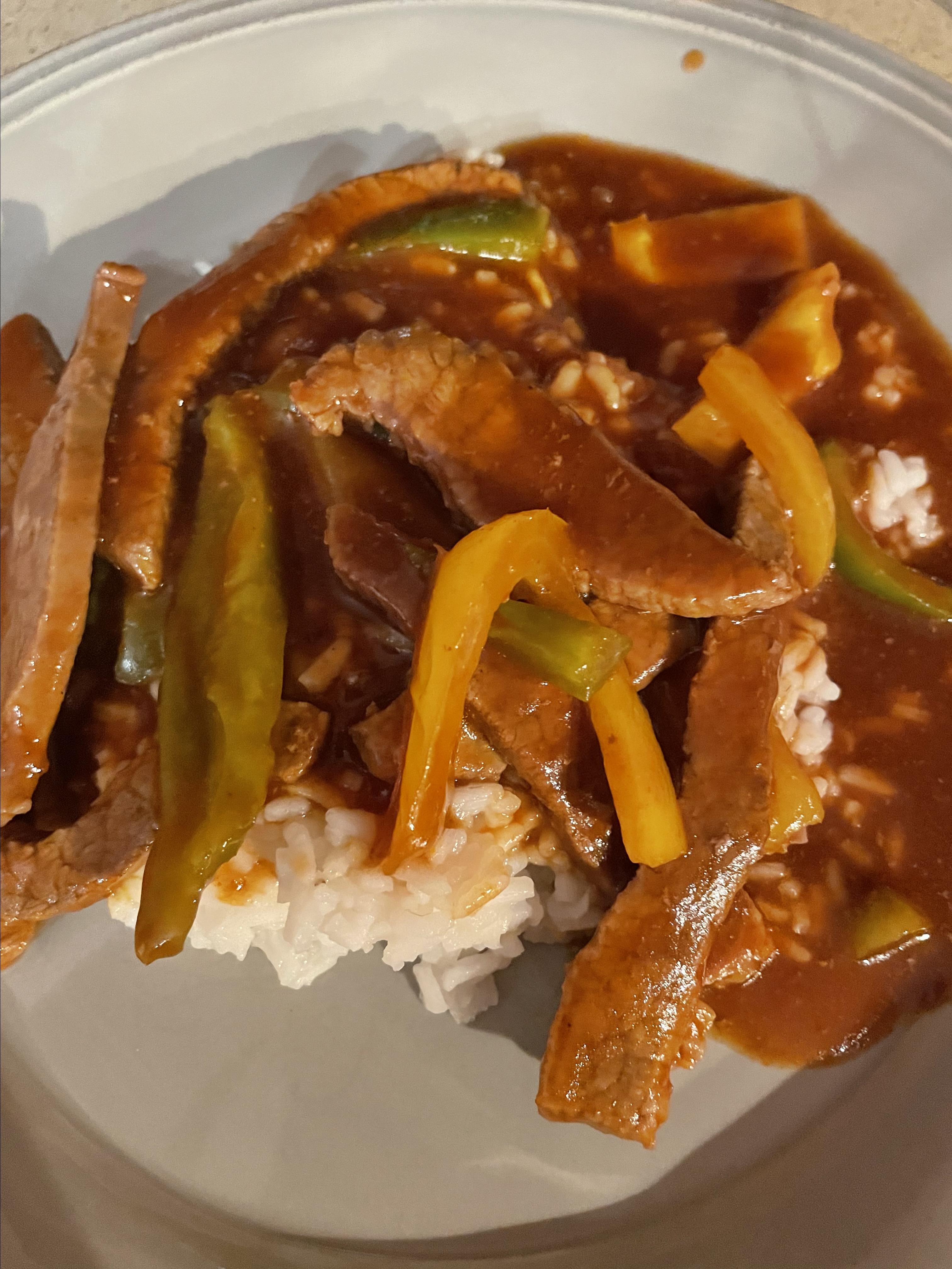 Chinese Pepper Round Steak
