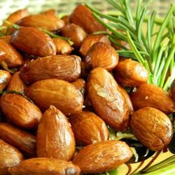 Rosemary and Garlic Infused Oven Roasted Almonds Marianne
