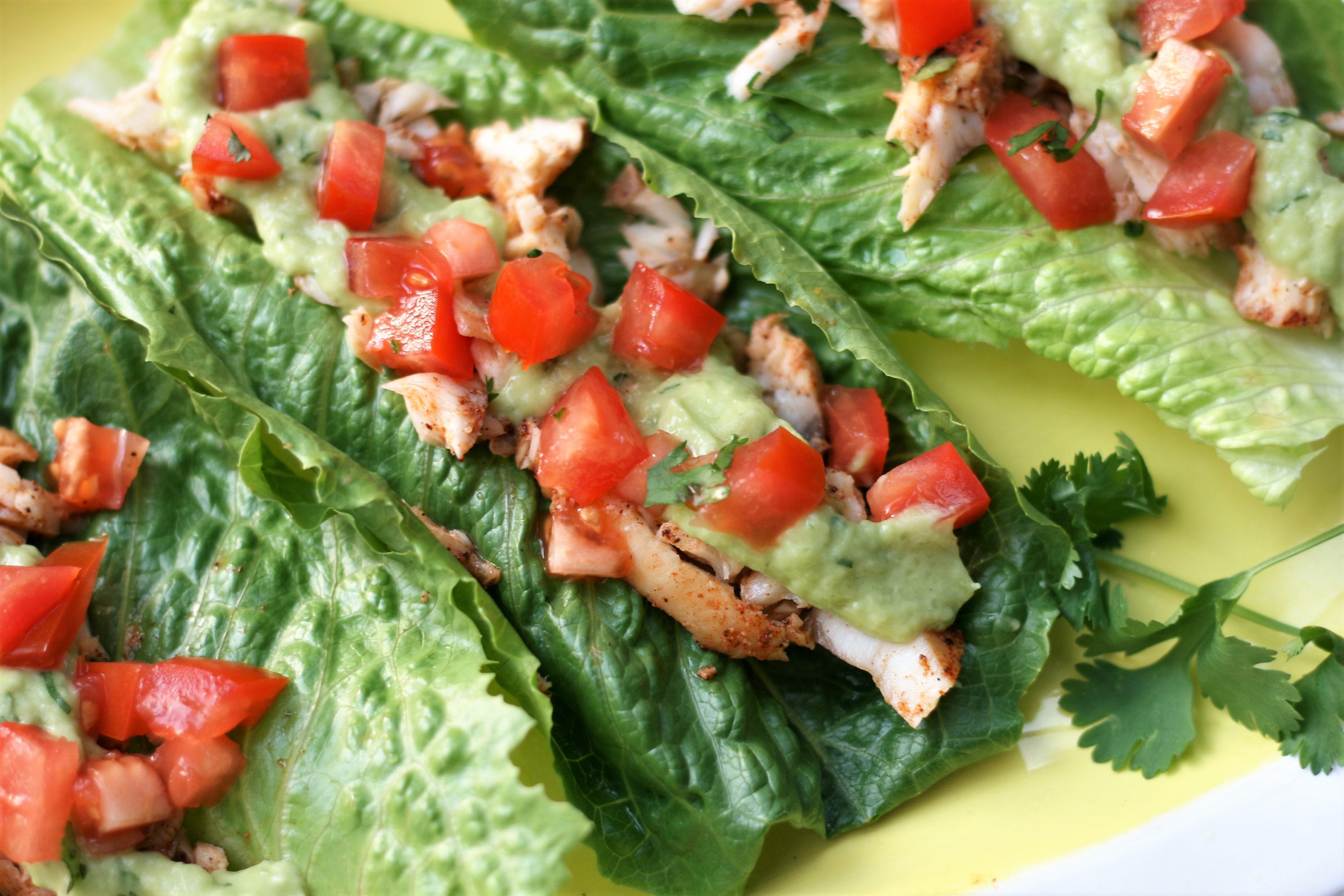 """Fish Tacos in Lettuce """"Shells"""""""