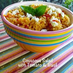 Couscous Salad with Tomato and Basil lutzflcat