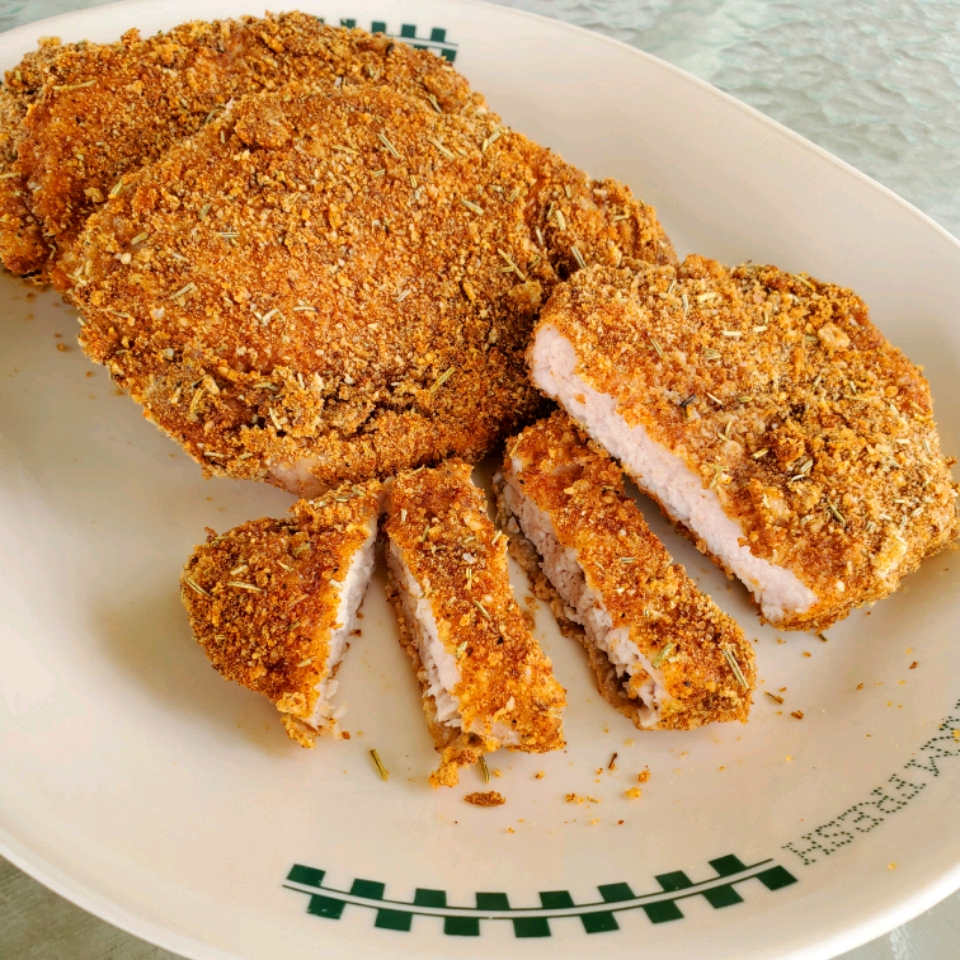 Rosemary- and Parmesan-Crusted Pork Chops