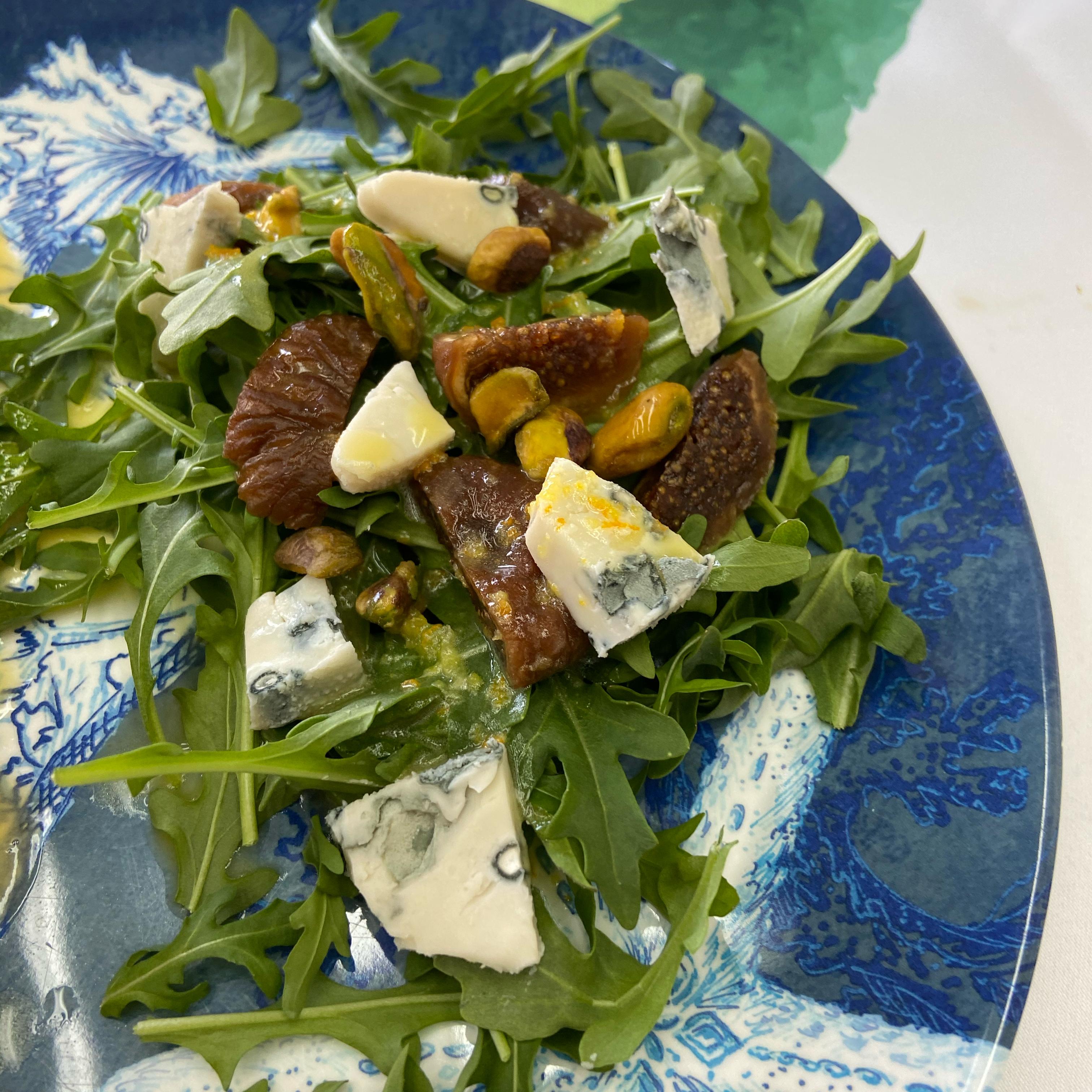 Arugula-Fig Salad with Creamy Gorgonzola Dan Toomey