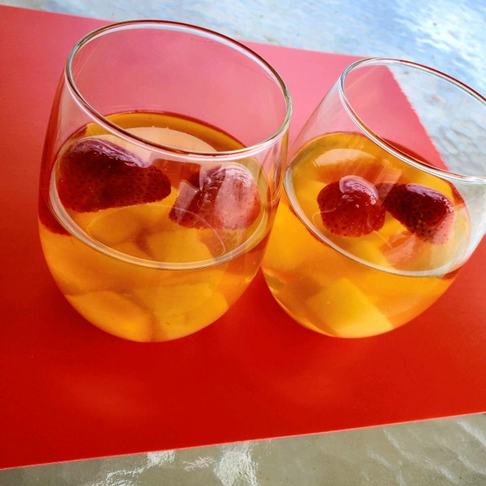 White Sangria with Frozen Fruit