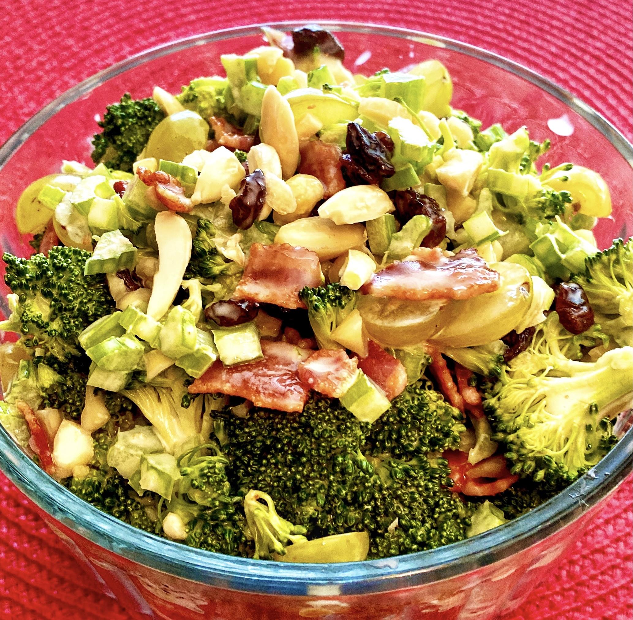 Broccoli Salad with Grapes