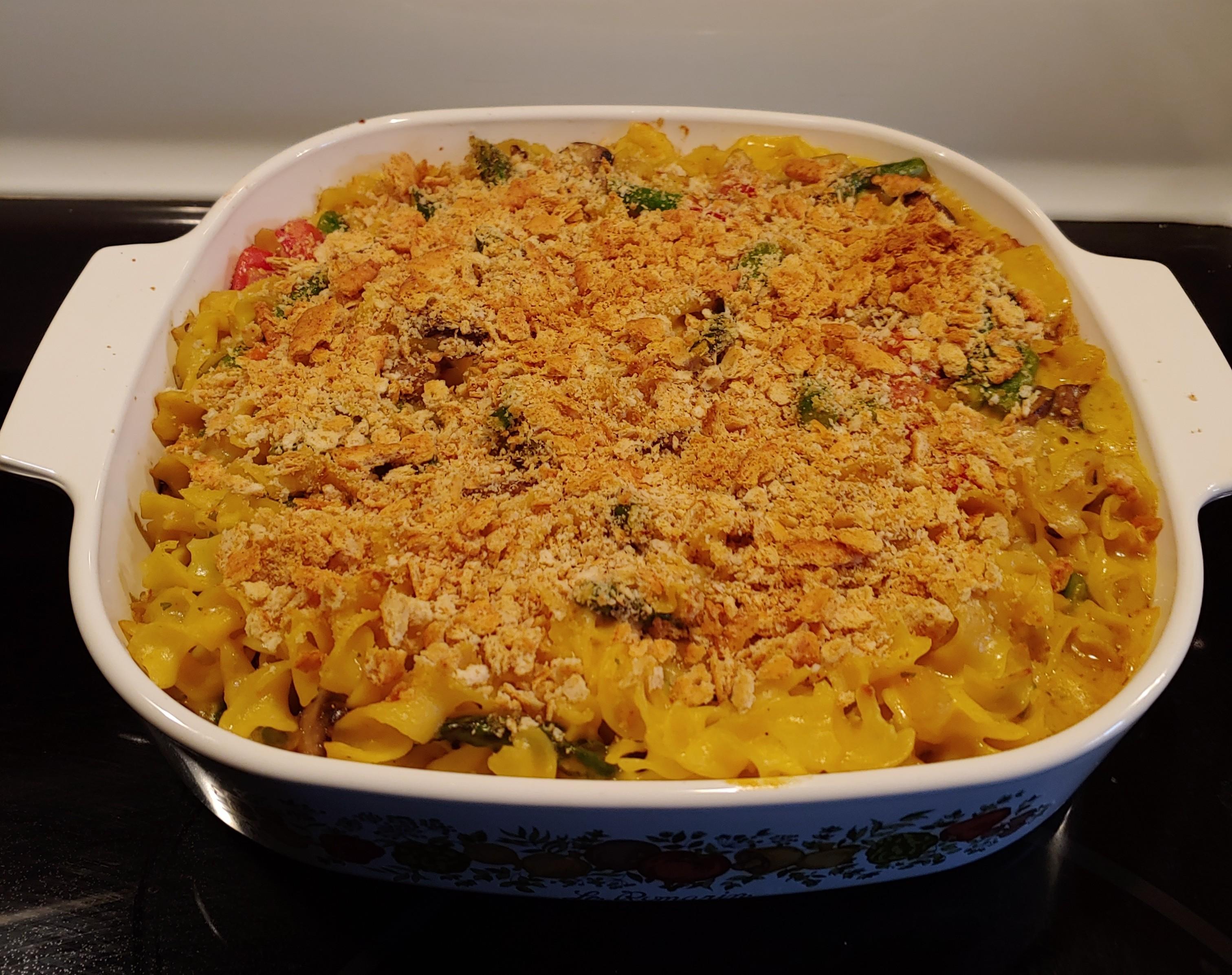 Baked Asparagus and Mushroom Pasta Lisa