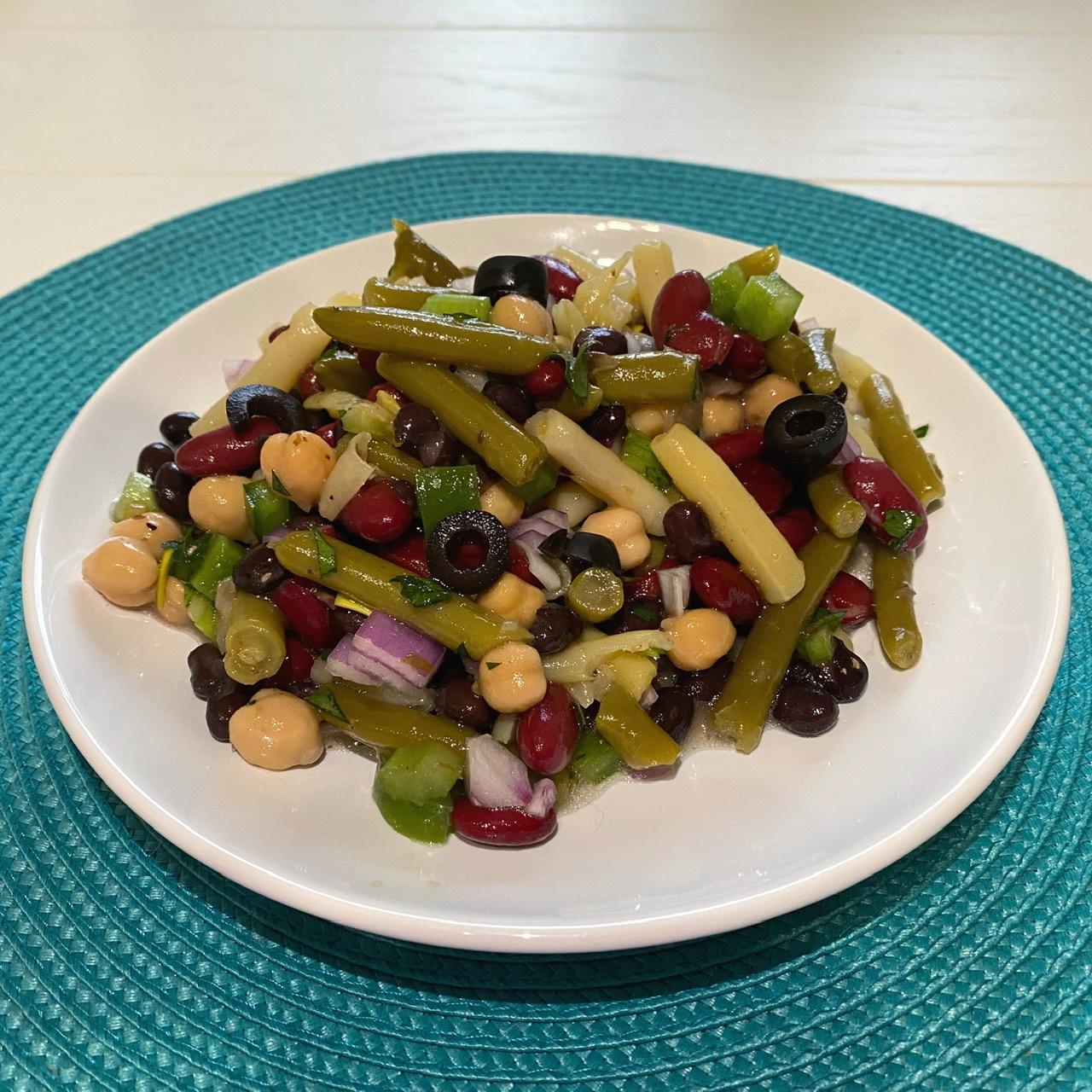 Mediterranean-Inspired 5-Bean Salad
