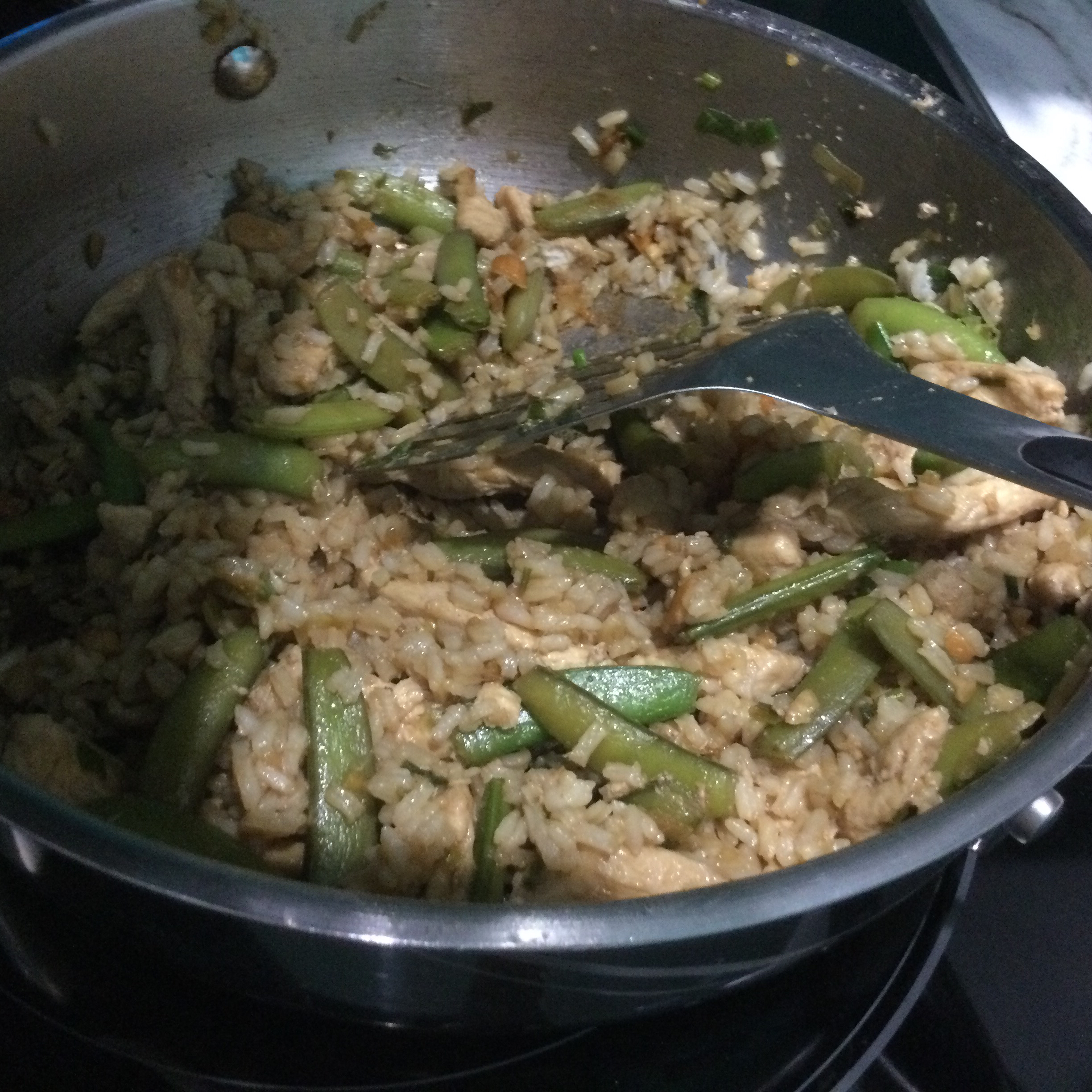 Chicken, Snow Pea, and Cashew Fried Rice IamtheBorg
