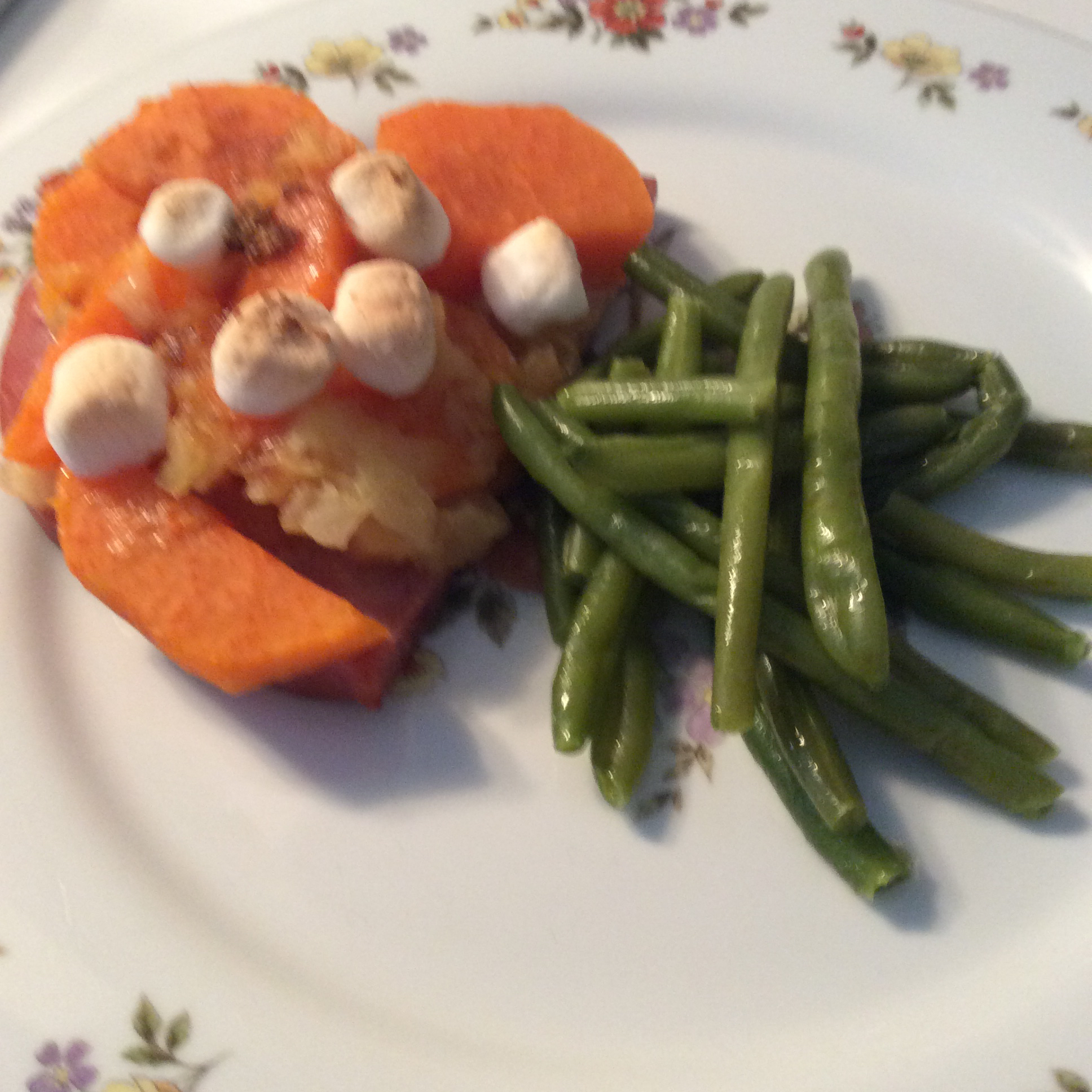Quick and Easy Ham with Sweet Potatoes Pat-Perry