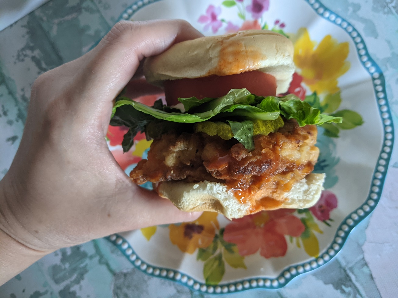 Fried Buffalo Chicken Sandwiches