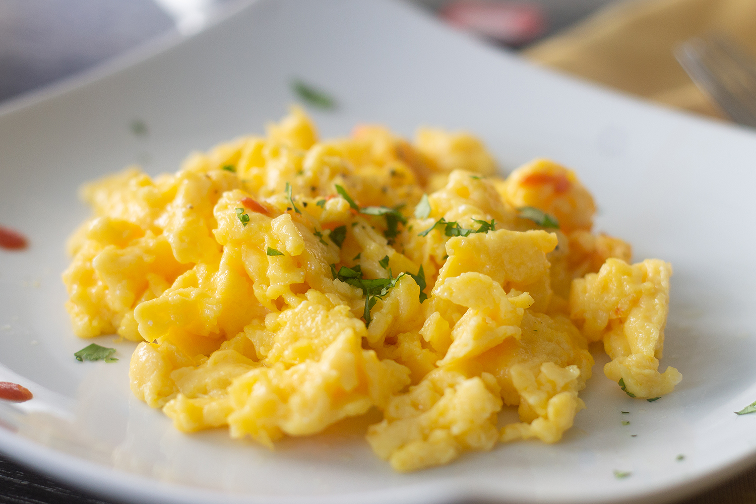 The Secret to Fluffy Scrambled Eggs
