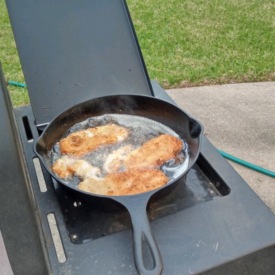 Light and Crispy Fried Halibut
