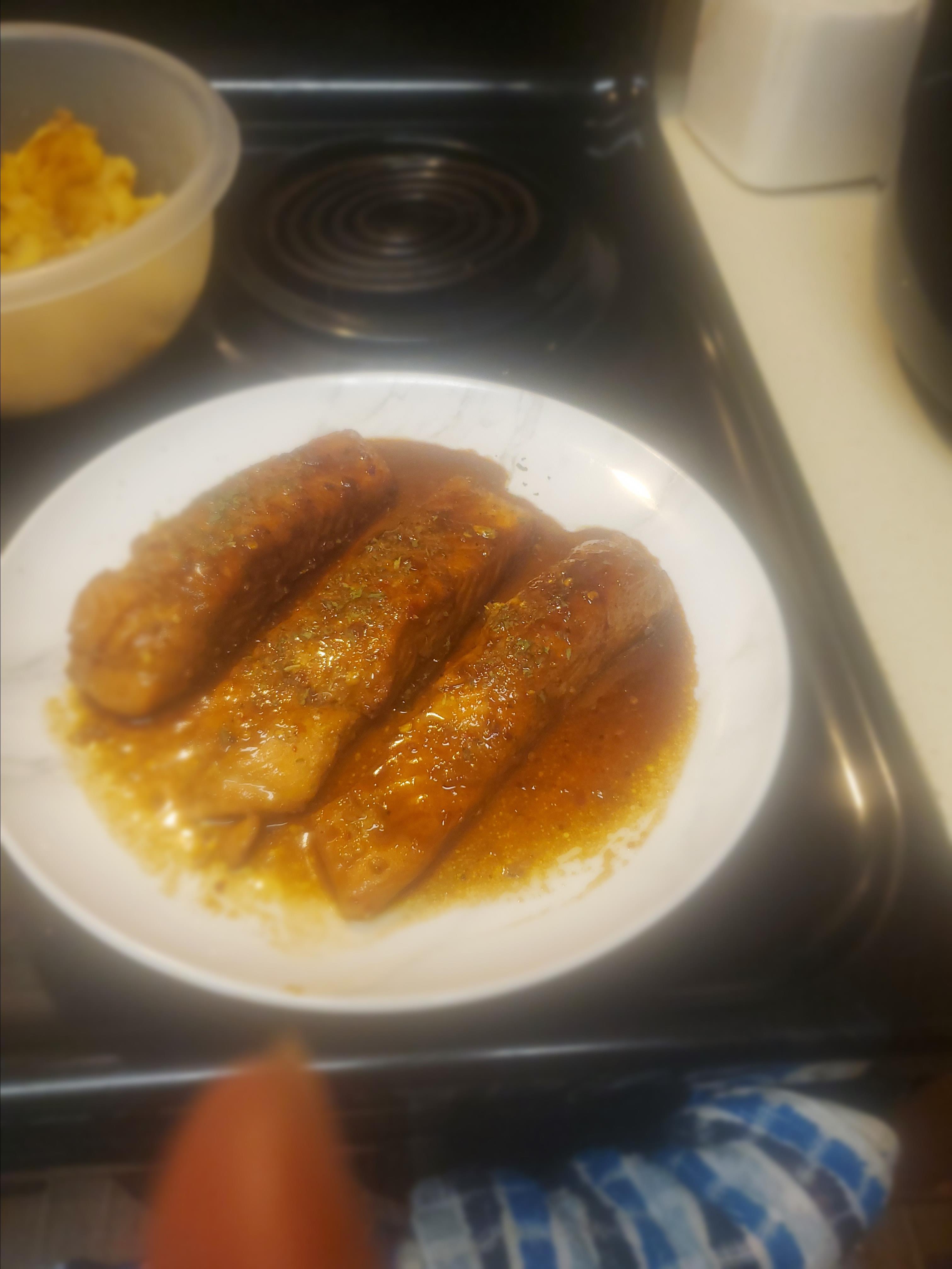 Sweet Glazed Salmon Gina Bradford