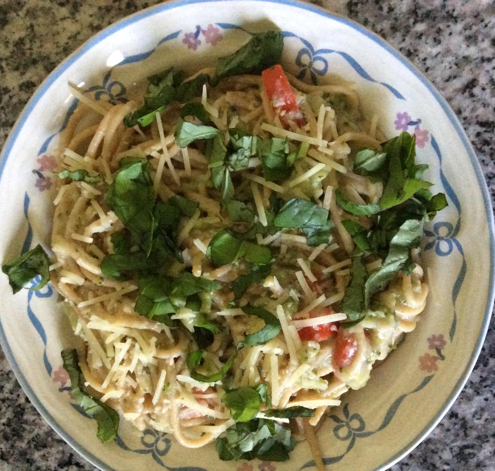 Pasta Primavera with Cauliflower Sauce cwriter79