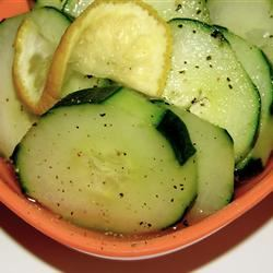 Lemony Cucumbers