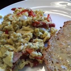 Scrambled Eggs with Sun-Dried Tomato
