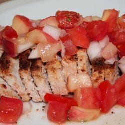 Grilled Pork Chops with Fresh Nectarine Salsa justaysmom
