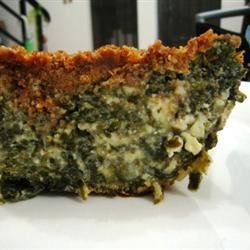 Crustless Spinach Pie My Pot Luck