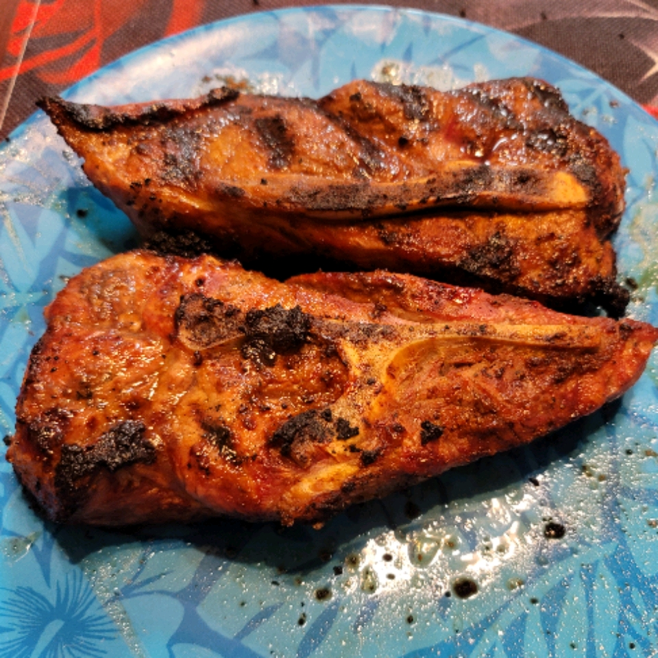 Smoky Grilled Pork Chops Gary Hamamoto