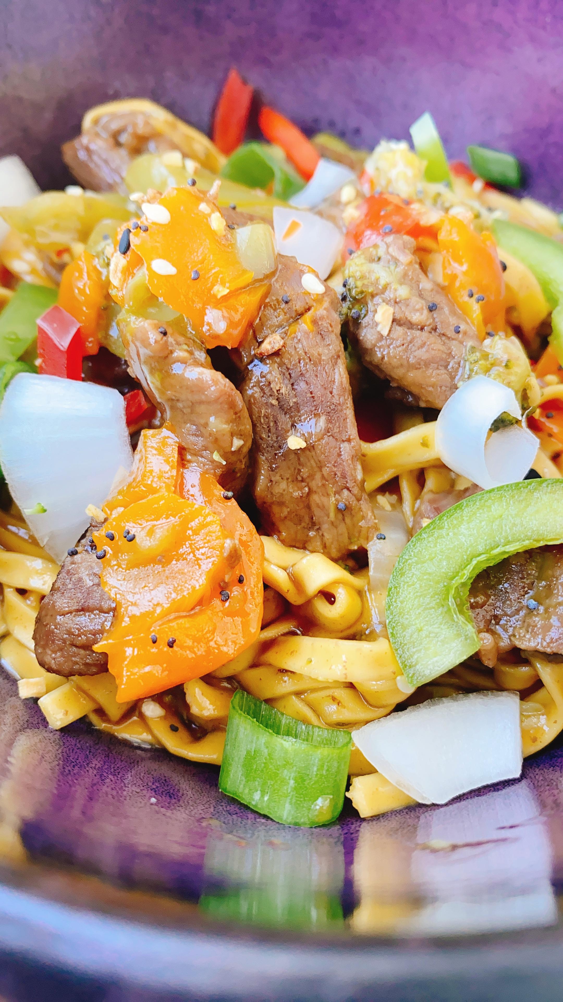 Hawaiian Beef Teriyaki Stir-Fry Bowl