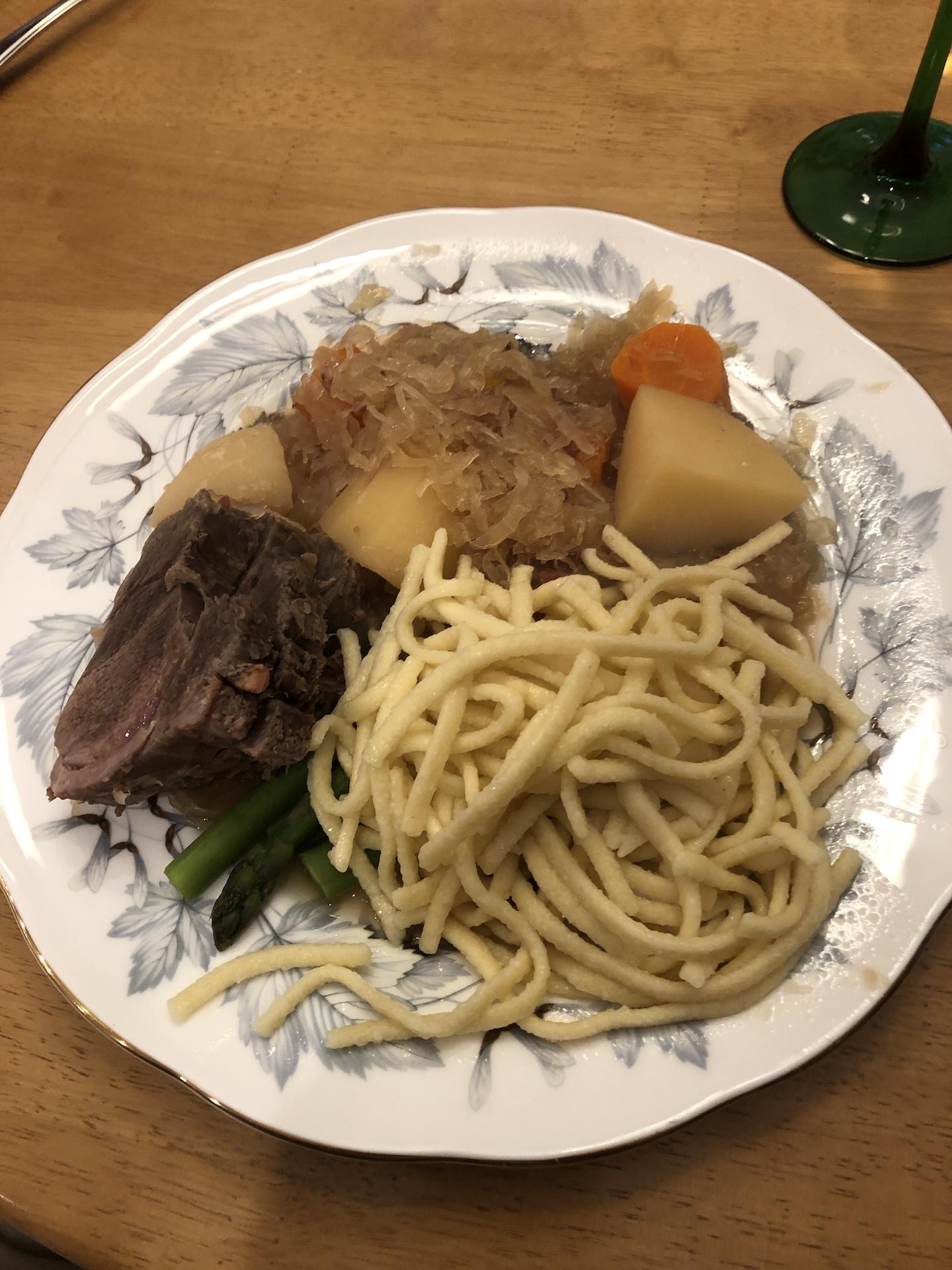 Braised Wild Boar with Sauerkraut