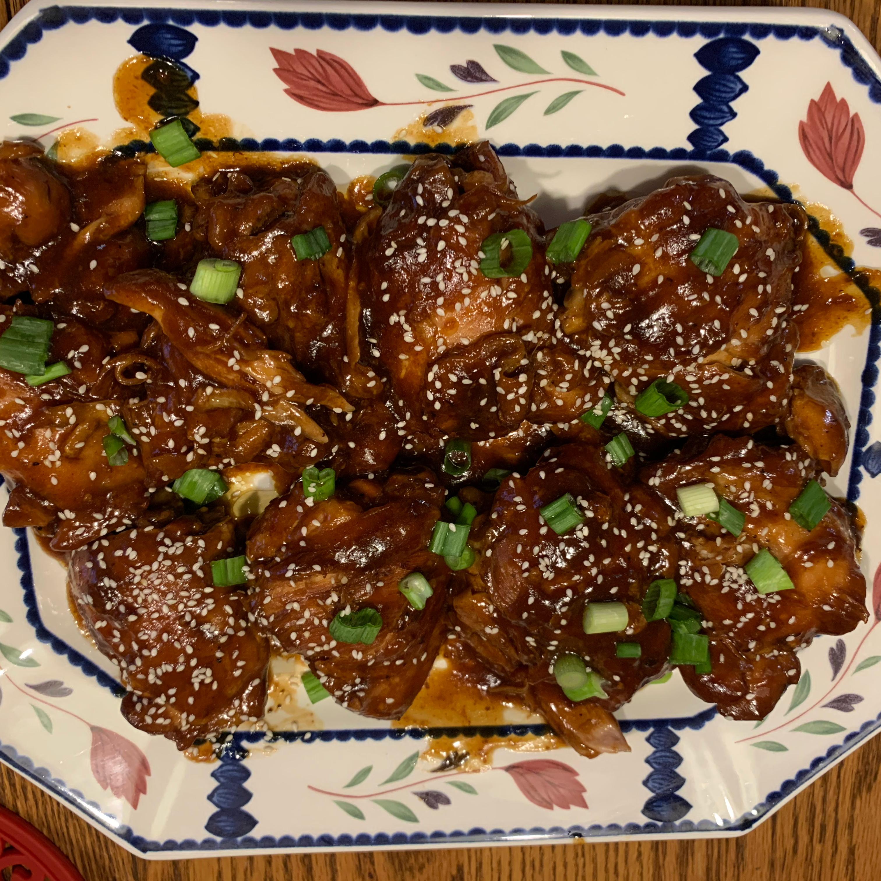 Instant Pot® Garlic-Sesame Chicken Thighs Dawn V.