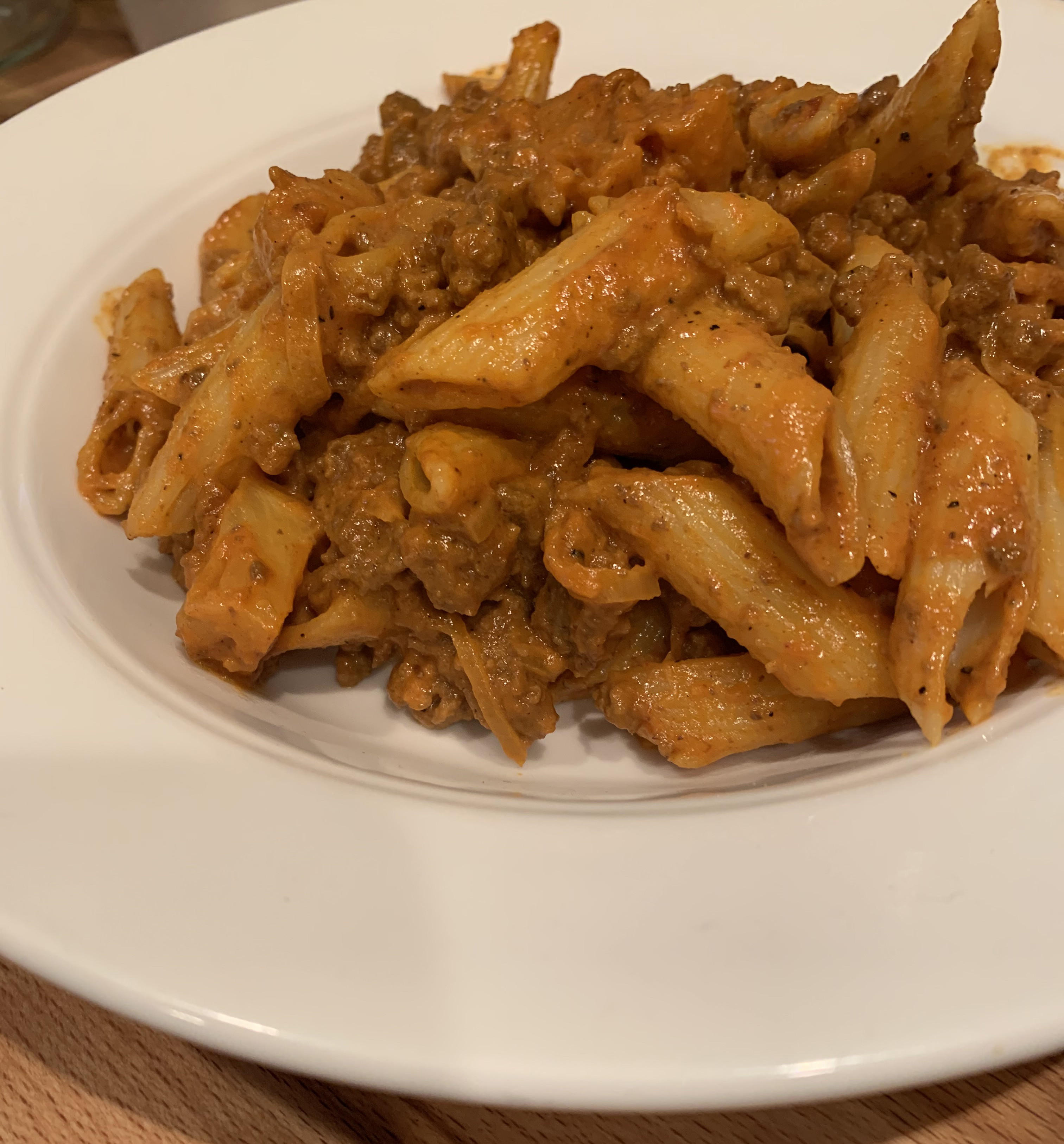 Quick Curry Pasta with Ground Beef and Pineapple barbara