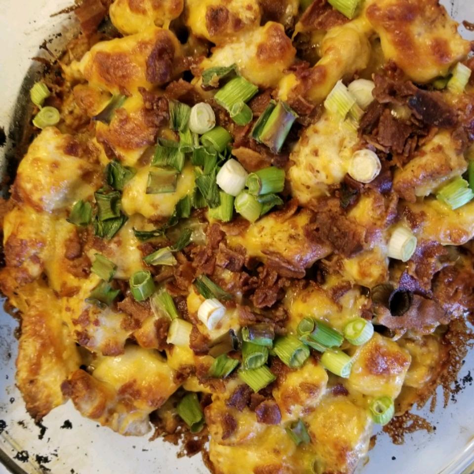 Buffalo Chicken and Roasted Potato Casserole Jan