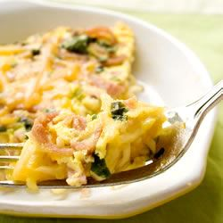 Ramen Frittata with Ham and Cheese Trusted Brands
