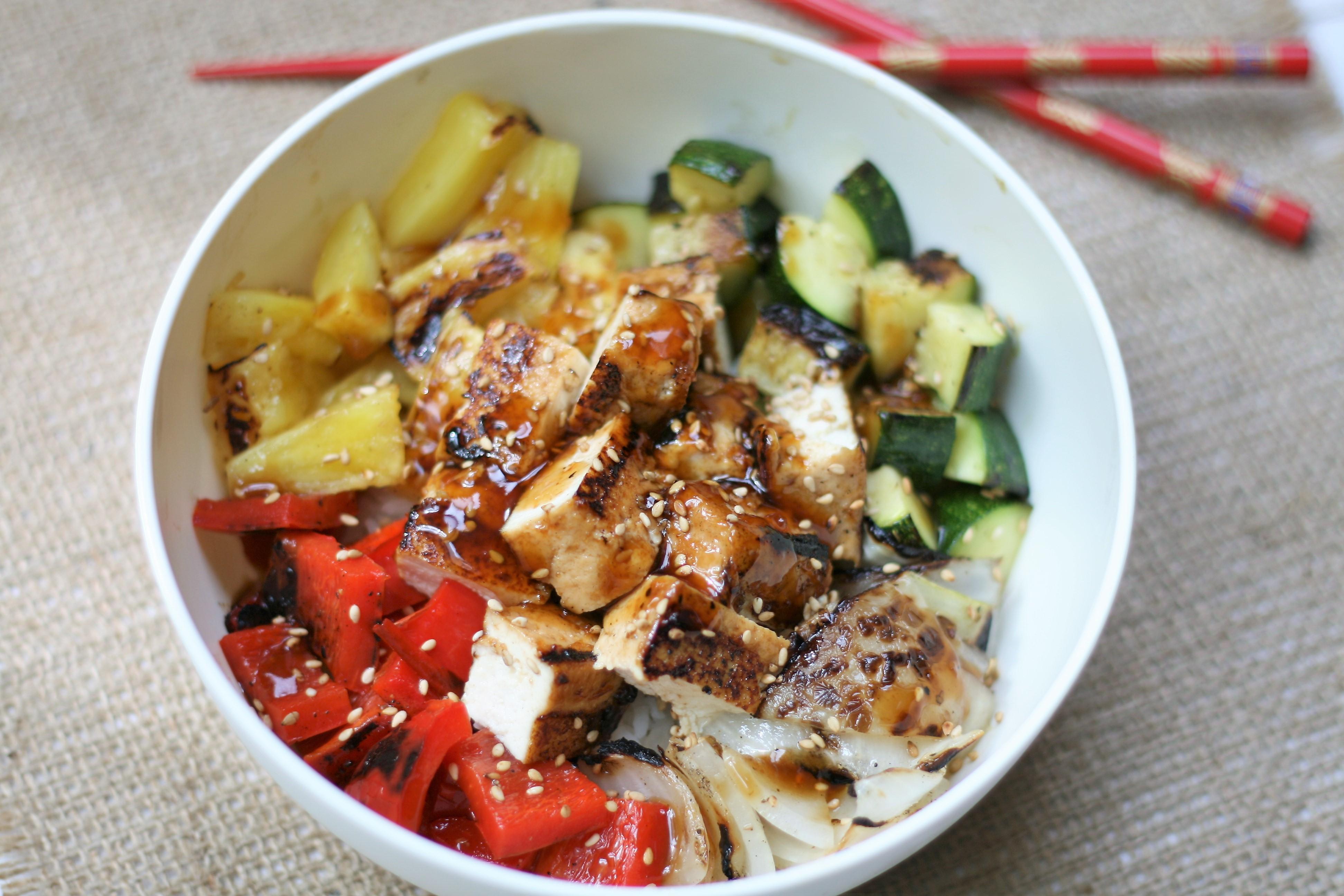 Grilled Teriyaki Tofu Bowls