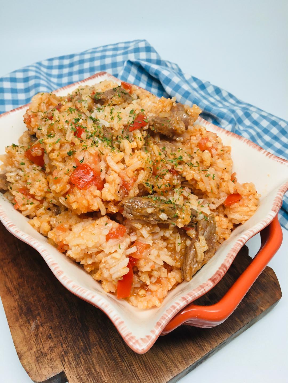 Jollof Rice with Beef