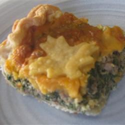 Hamburger Spinach Quiche bethze