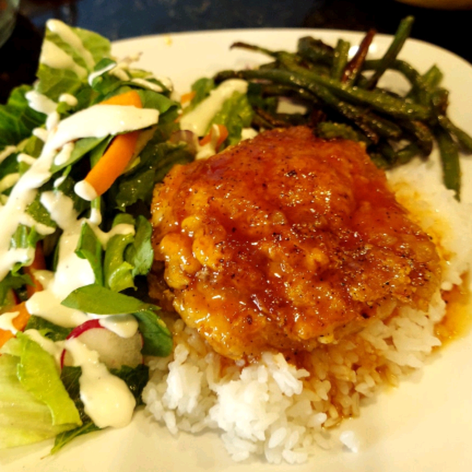 Baked Sweet and Sour Chicken Thighs uvaenuku
