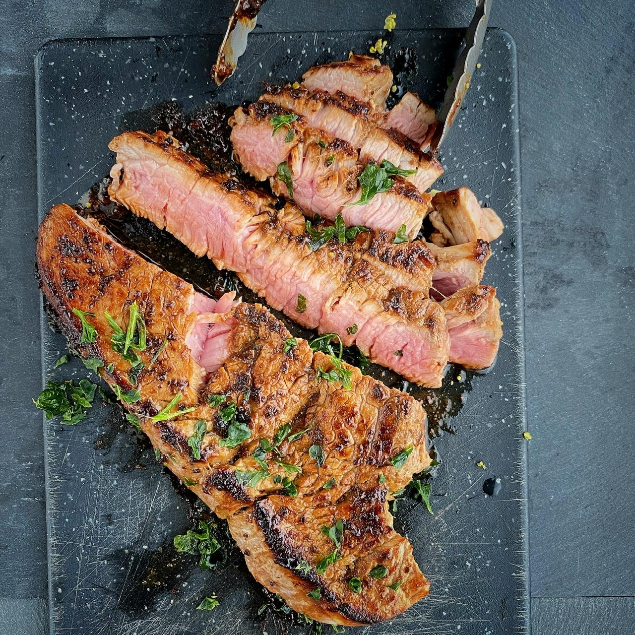Miso-Glazed Skirt Steak Buckwheat Queen