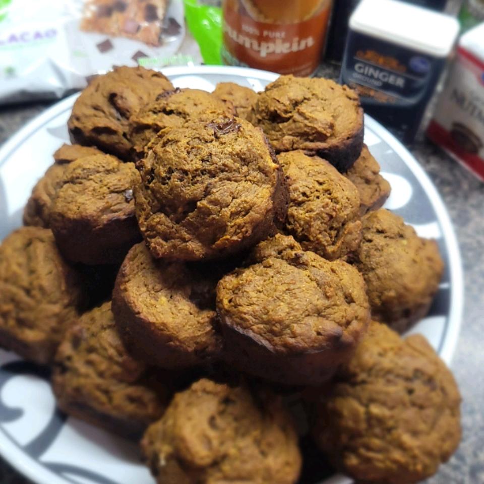 Pumpkin-Dark Chocolate Chip Muffins