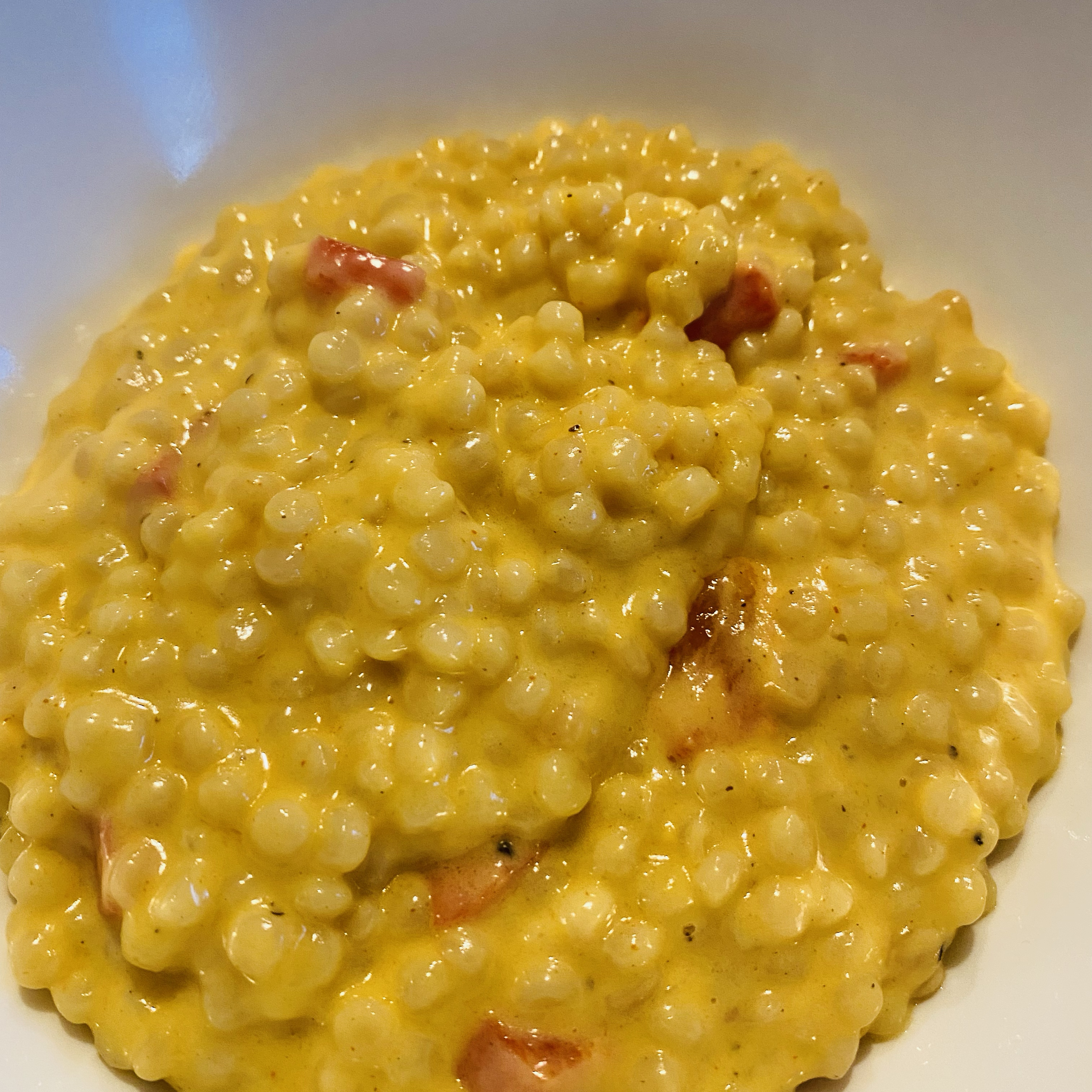 Israeli Couscous and Cheese Michele