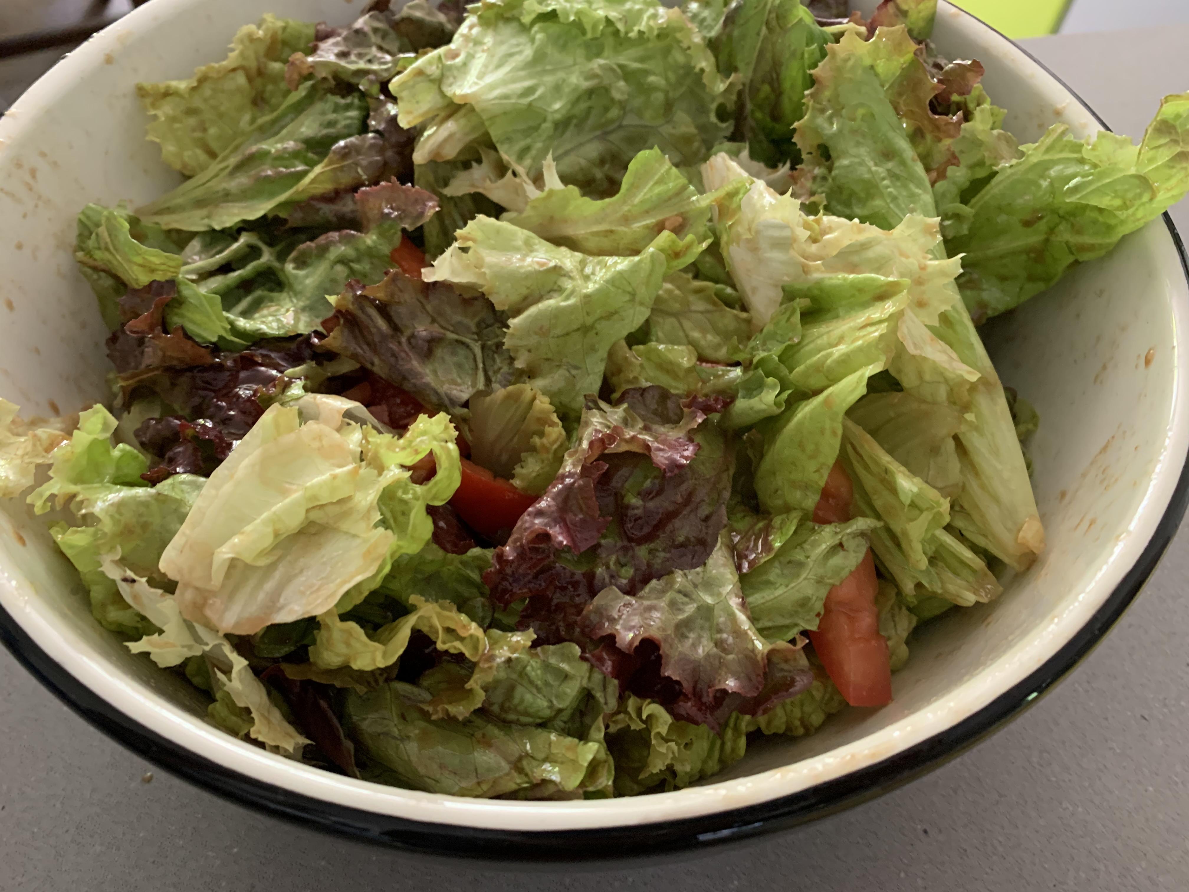 Simple Red Leaf Salad