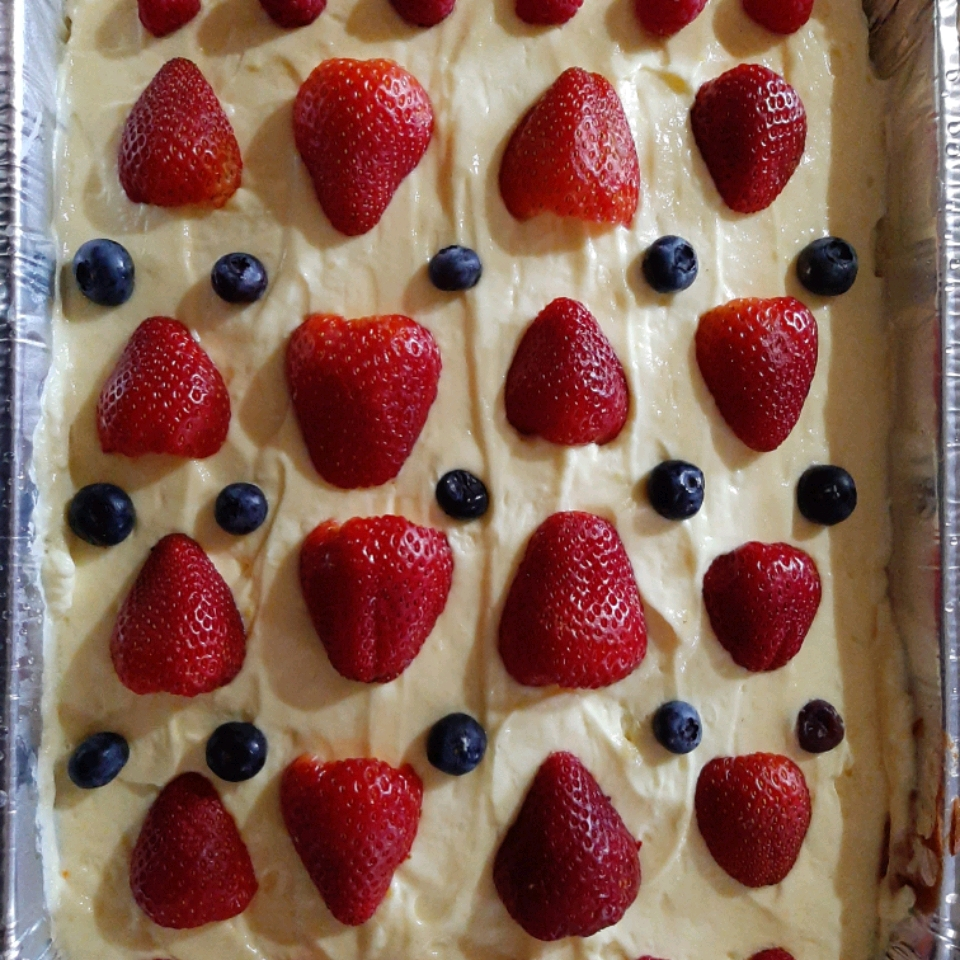 Lemon Pudding Poke Cake