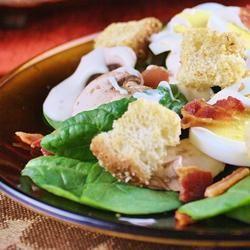 Spinach, Bacon, and Mushroom Salad naples34102