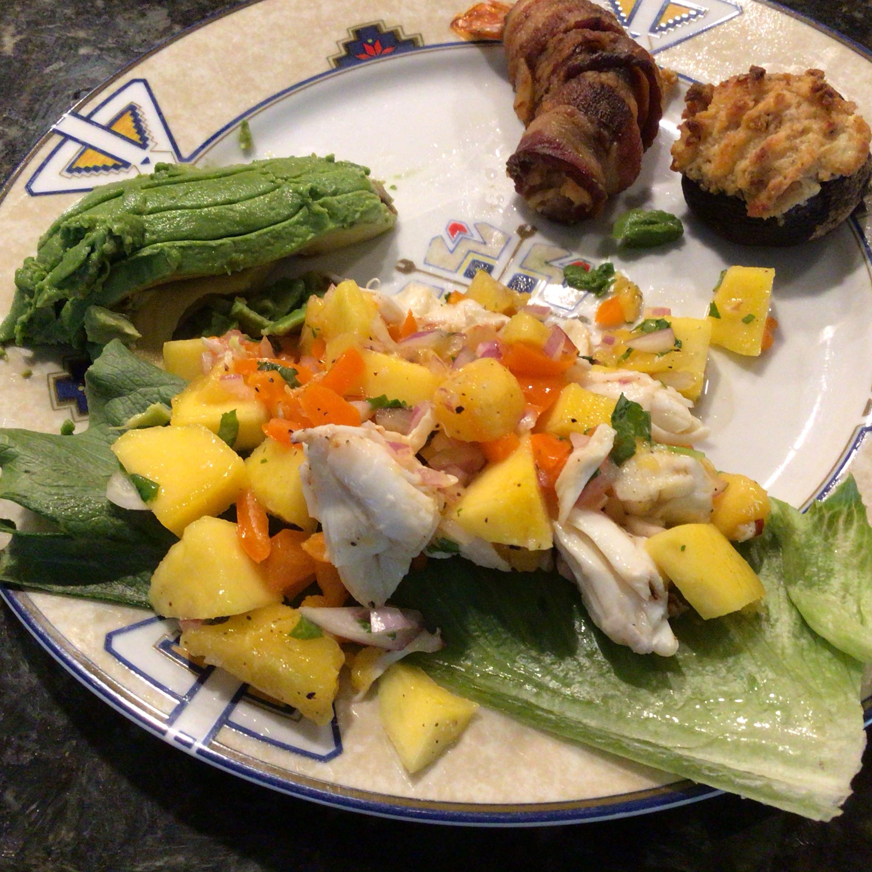 Crab & Avocado Salad with Fruit Salsa Nina Greenberg