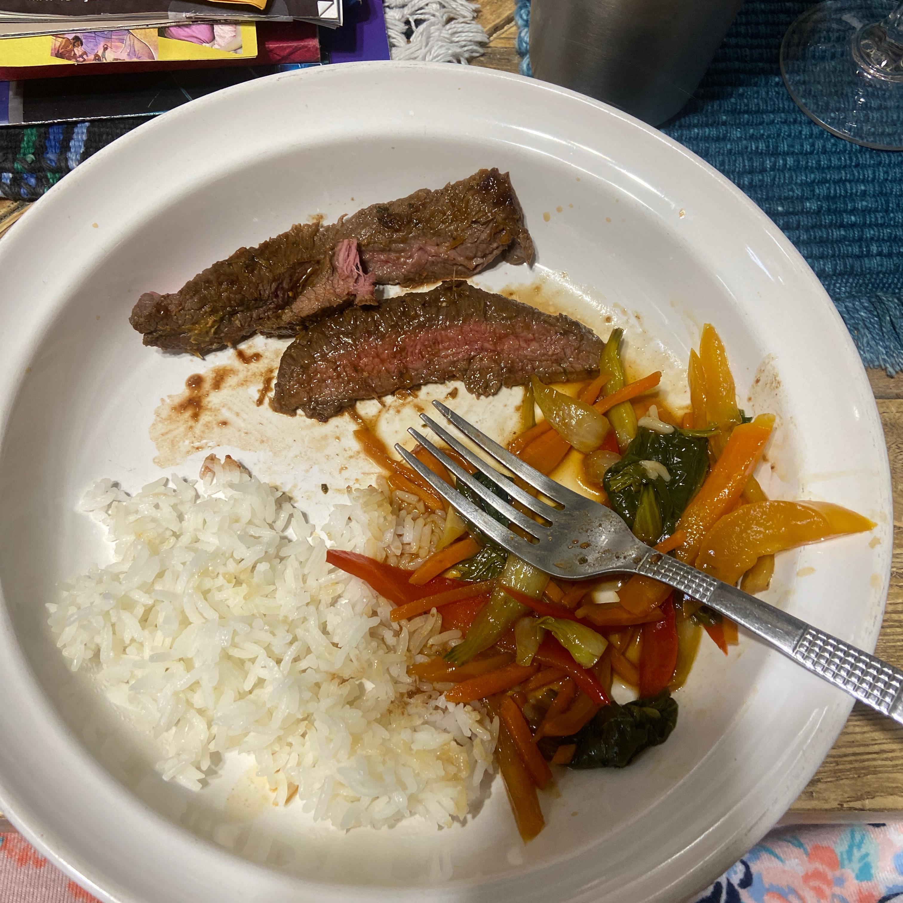 California-Thai Flank Steak Angelica Alvarez