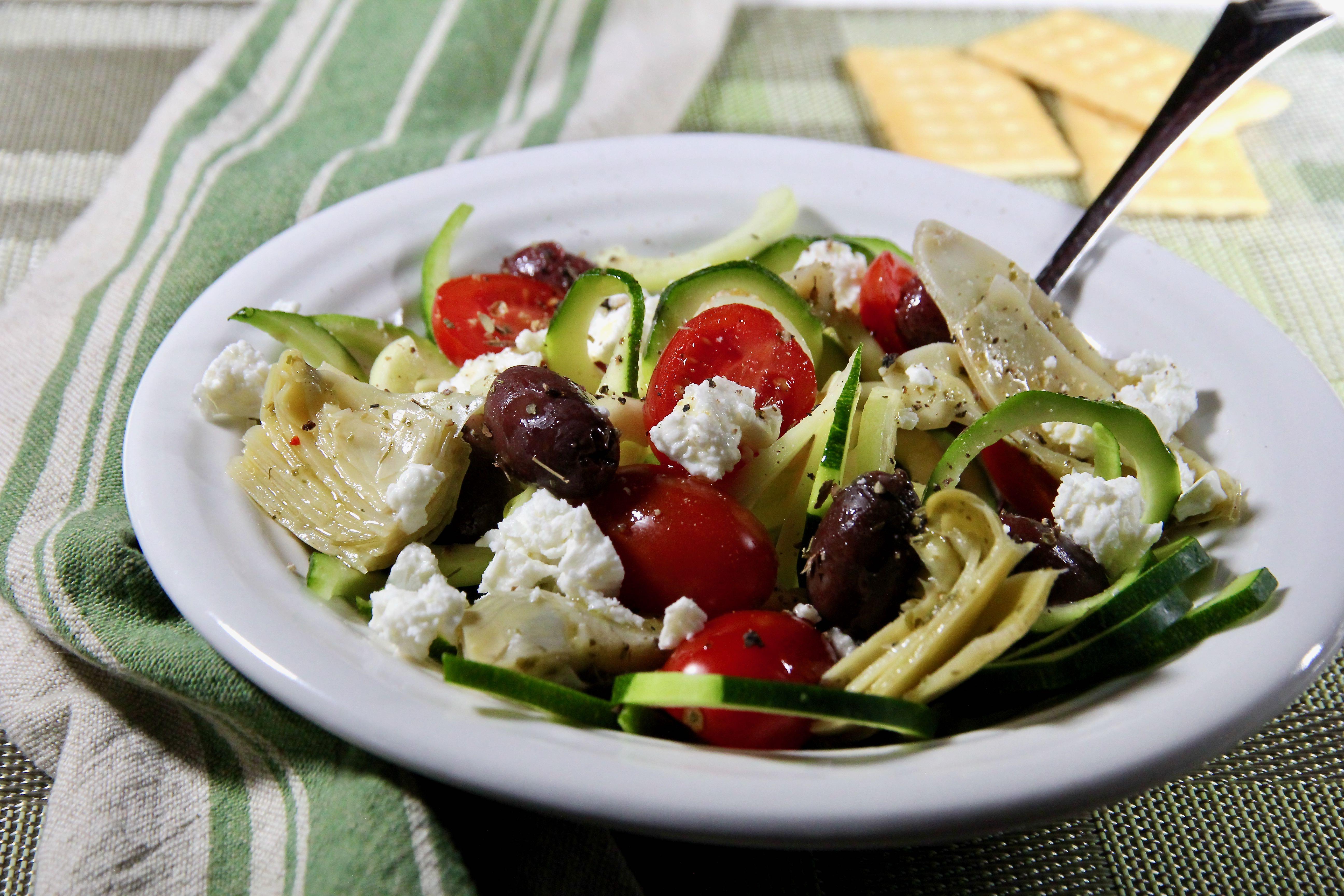 Mediterranean Zucchini Salad
