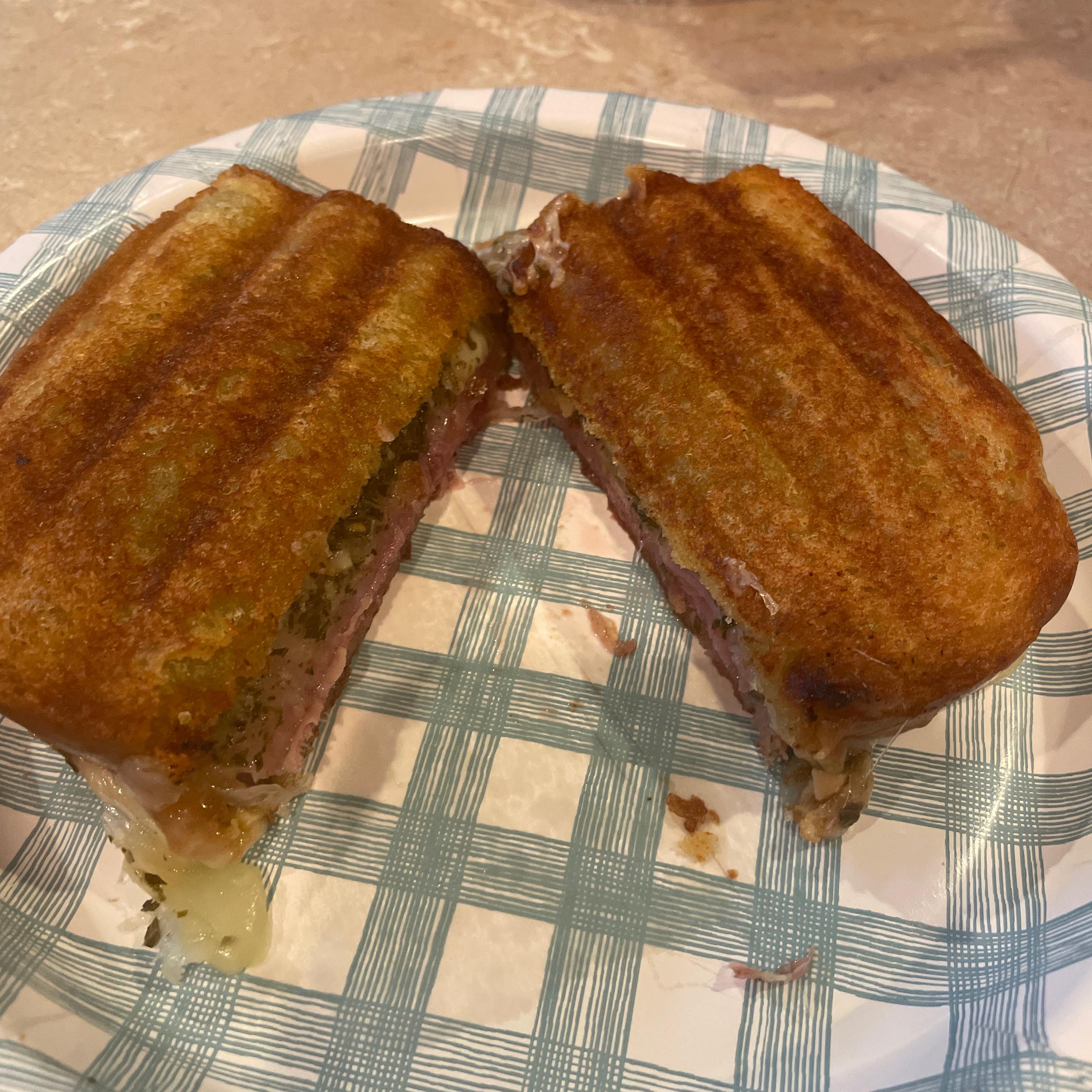 Prosciutto and Provolone Panini Sandwiches Jackie