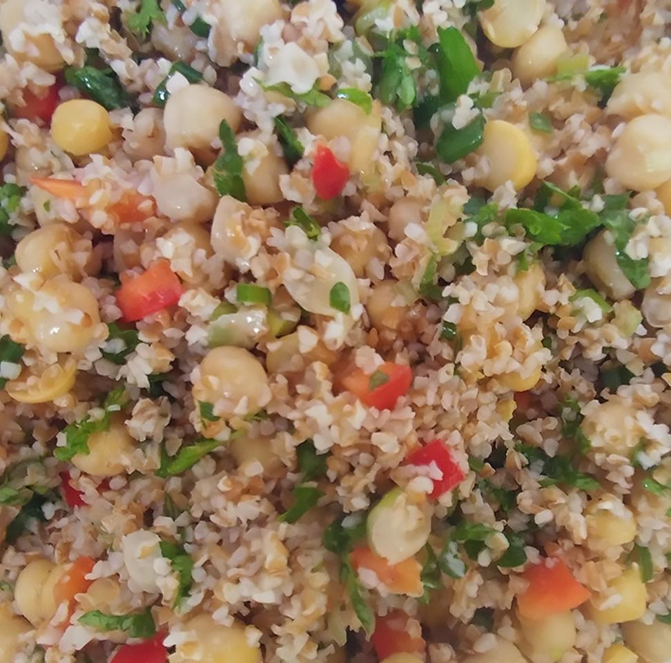 Bulgur Chickpea Salad