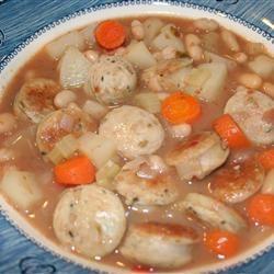 Sausage & White Bean Soup Ms. Chef Esh