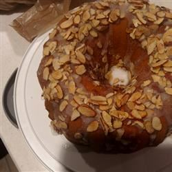 Glazed Almond Bundt Cake Calandra Lawrence