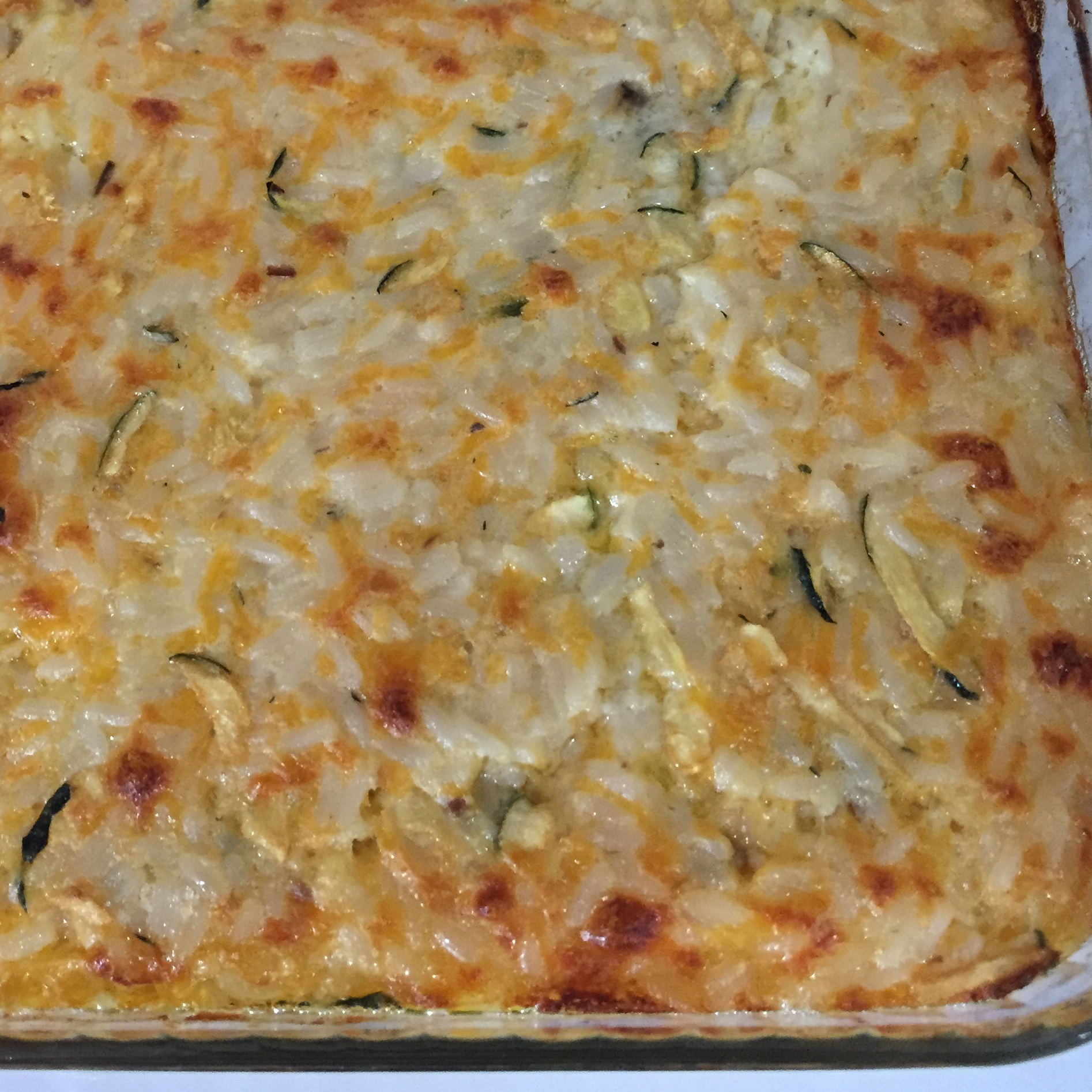 Cheesy Zucchini Rice Bake CindyH