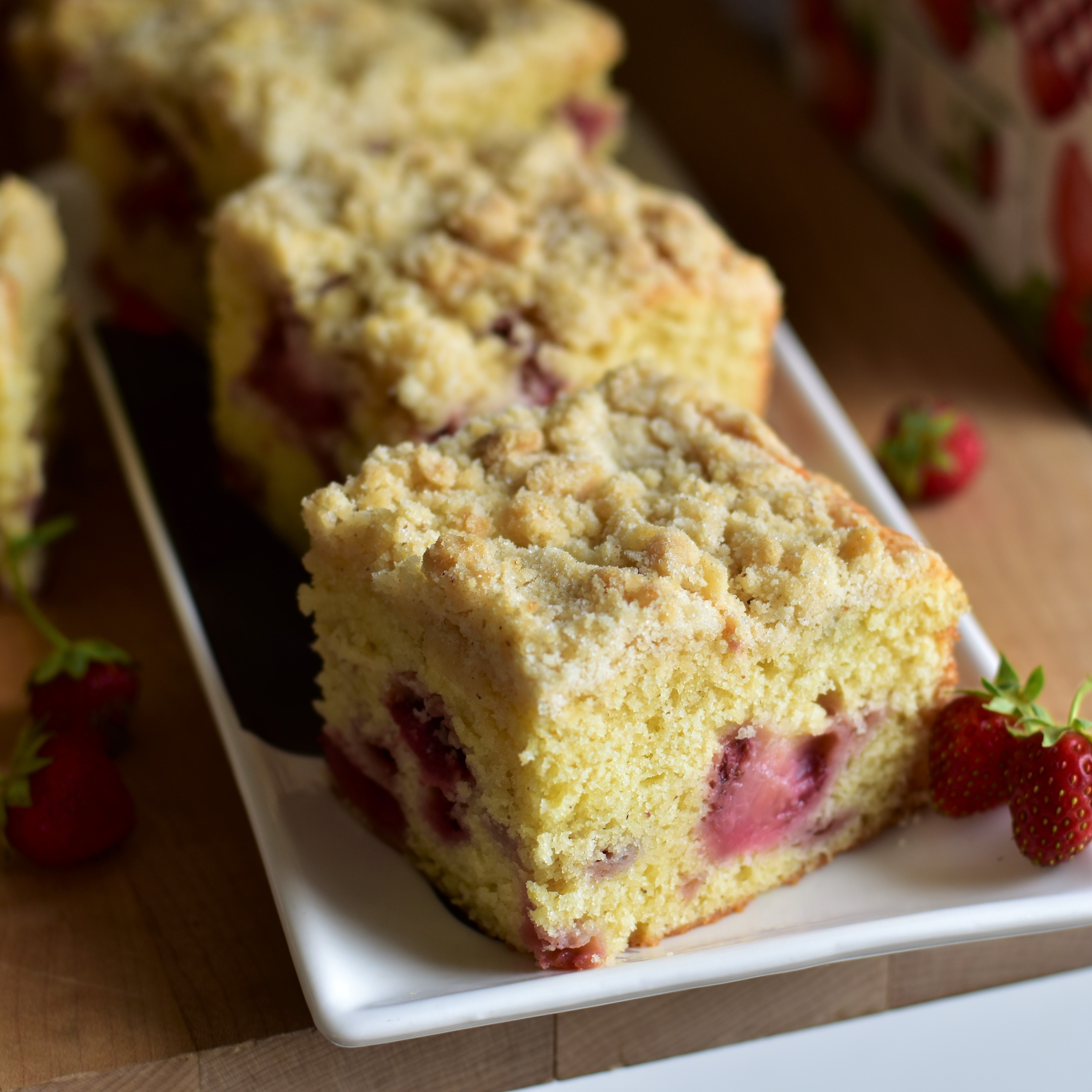 Strawberry Buttermilk Crumb Cake
